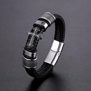 bracelet croix homme