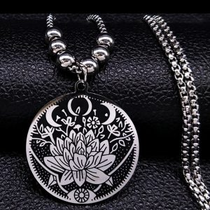 lotus collier homme