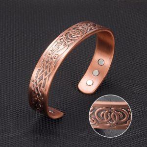 bracelet cuivre pour homme vu de haut