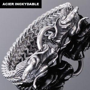 bracelet dragon argent
