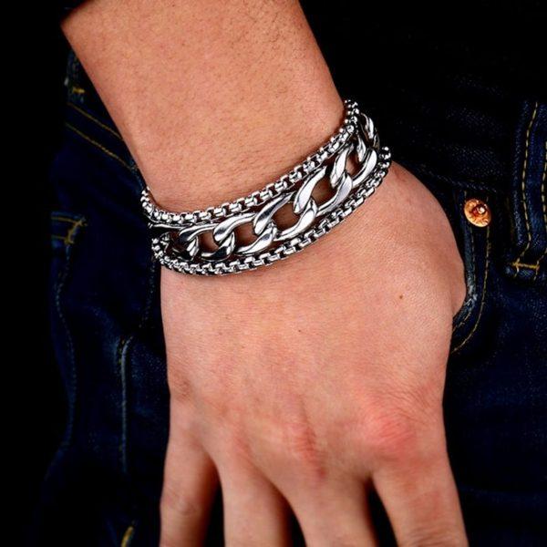 bracelet large pour homme vue de face