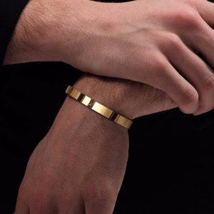 bracelet plaque or homme