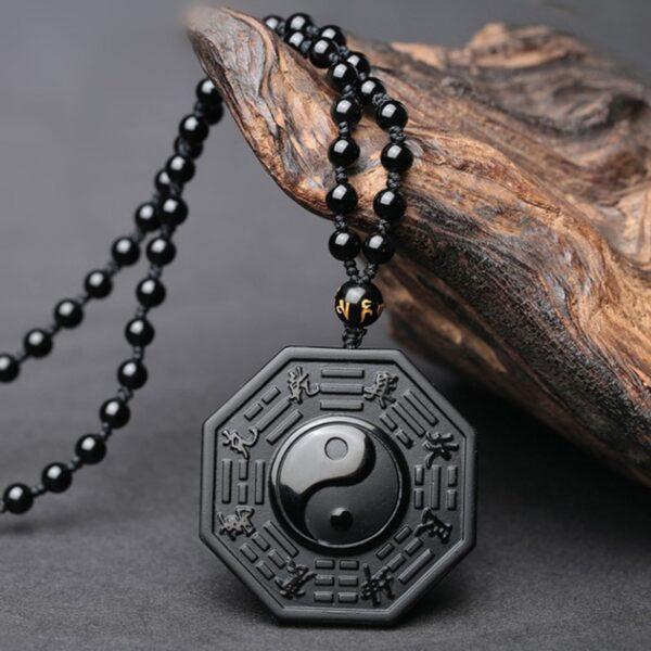 Collier obsidienne