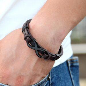 Bracelet fin homme cuir