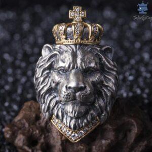 Bague lion homme