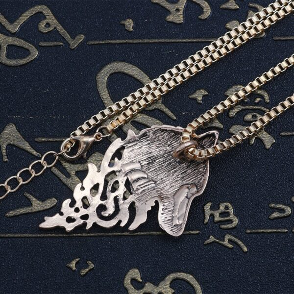 Collier loup homme