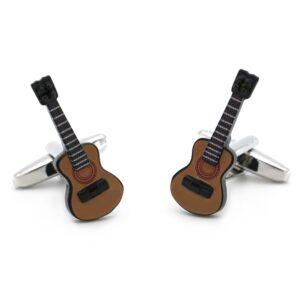 Bouton de manchette guitare