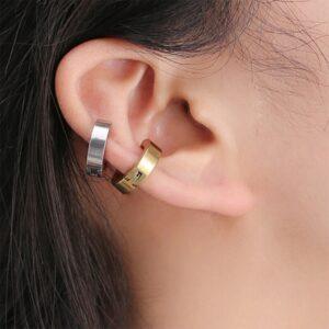 Boucle d'oreille homme sans perçage