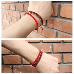 Bracelet bouddhiste porte-chance noué à la main