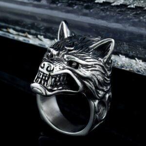 Bague loup garou