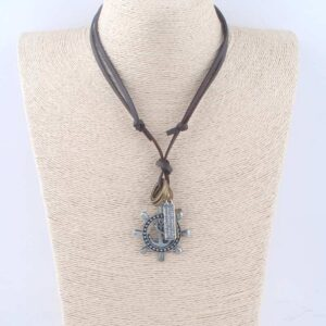 Collier ancre homme