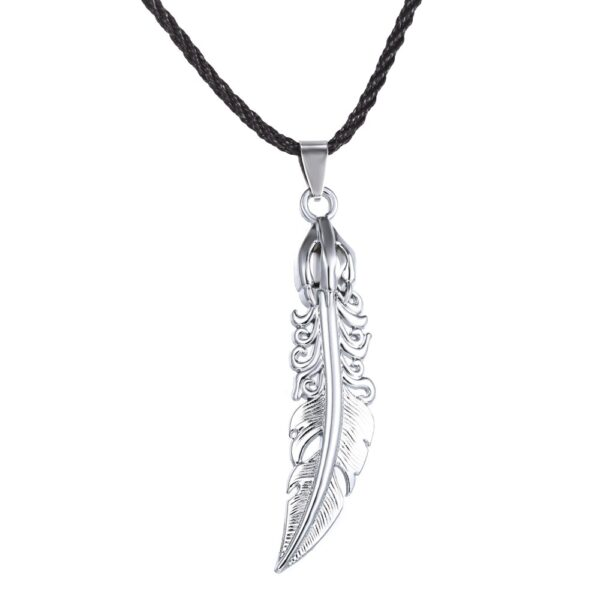 Collier homme plume