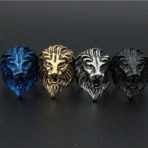 Bague homme tête de lion