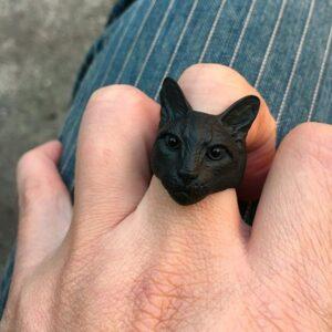 Bague chat noir