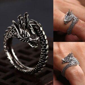 Bague en forme de dragon