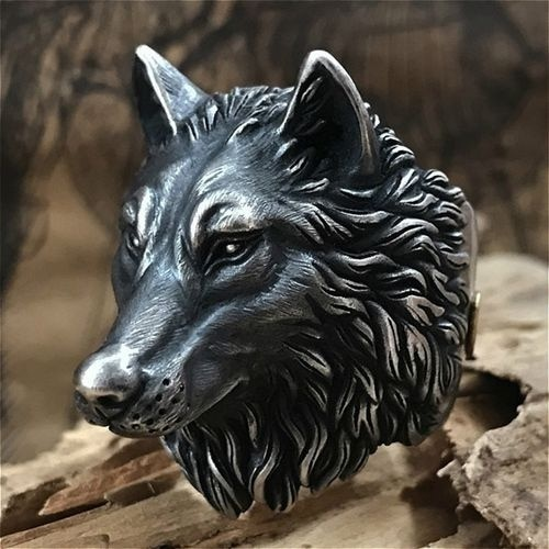Bague tête de loup