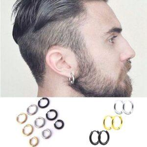 Boucle d'oreille homme anneau