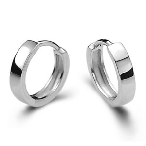 Boucle d'oreille homme anneau argent