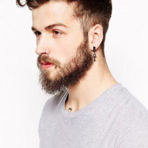 Boucle d'oreille pendante homme