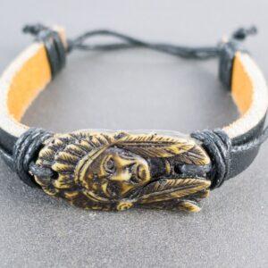 Bracelet indien cuir homme
