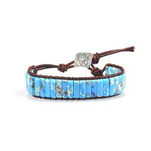 Bracelet indien turquoise homme