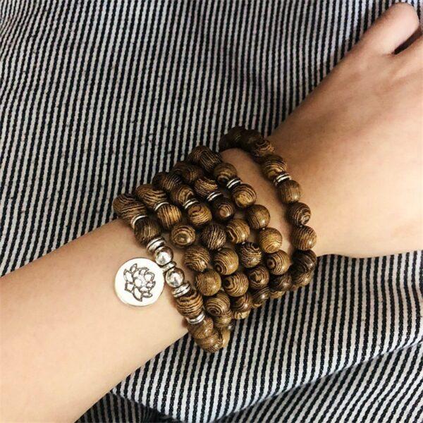 Bracelet lotus homme