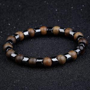 Bracelet perles bois