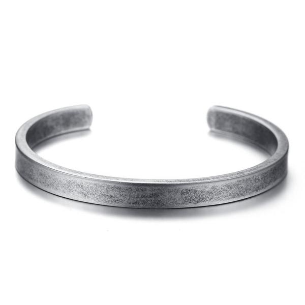 Bracelet en acier jonc