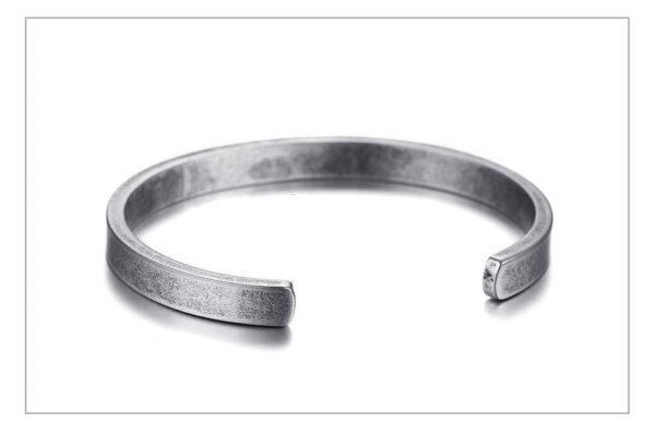 Bracelet acier jonc style viking