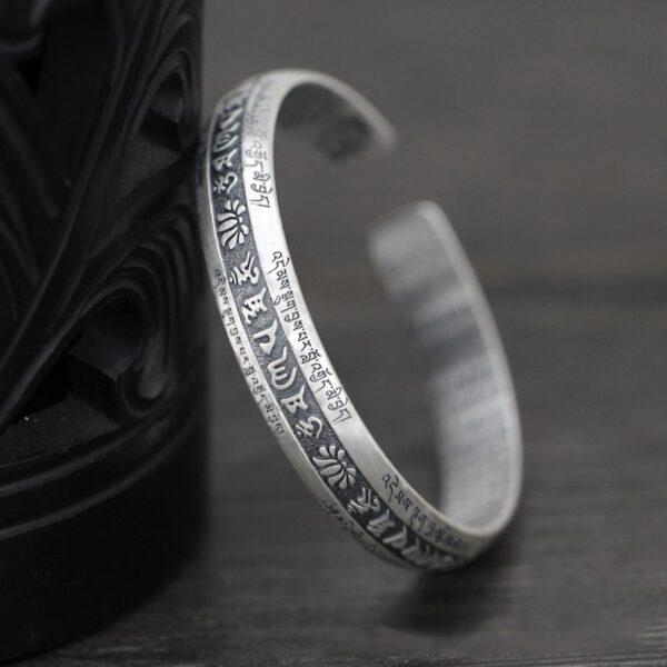 Bracelet tibétain argent