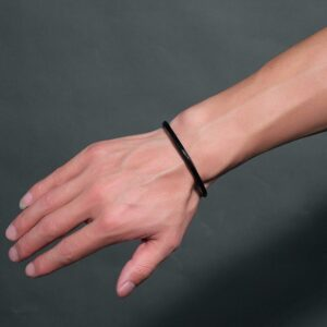 Bracelet jonc acier inoxydable noir