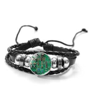Bracelet geek vert foncé