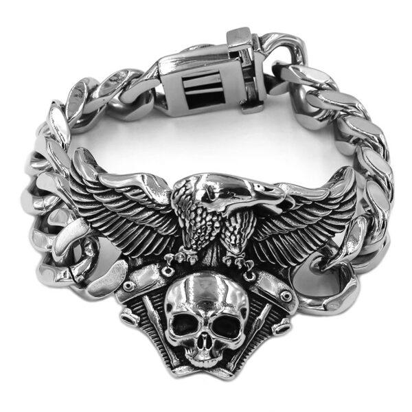 Bracelet acier tete de mort