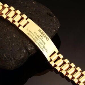 Bracelet acier avec message