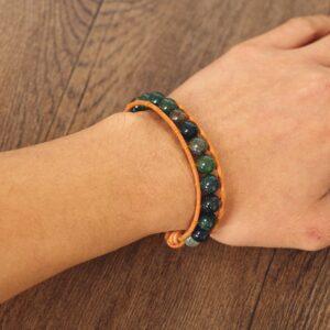 Bracelet style indien cuir