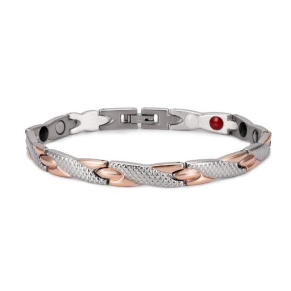 Bracelet acier inoxydable homme or et argent