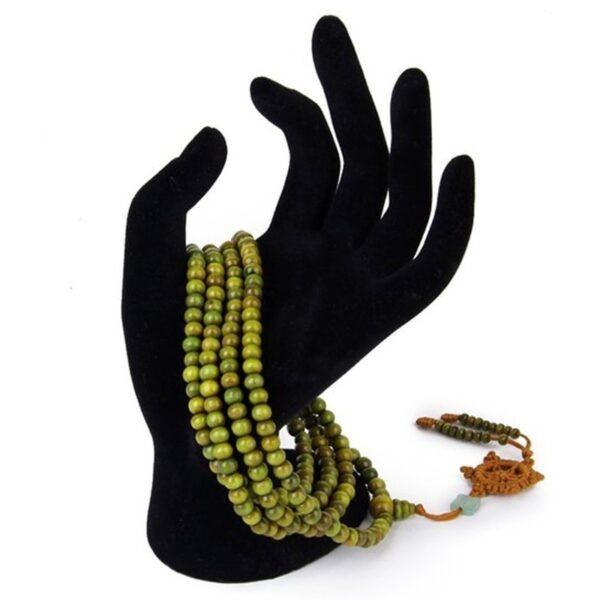 Meditation bracelet yoga vert