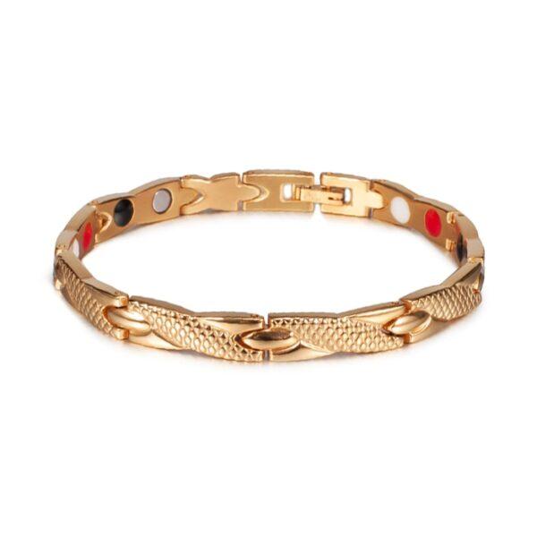 Bracelet acier inoxydable homme or