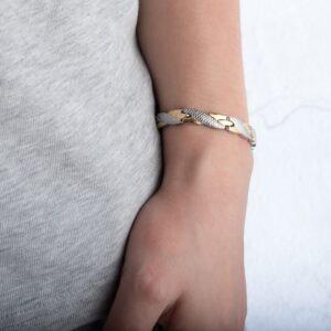 Bracelet acier inoxydable homme poignet
