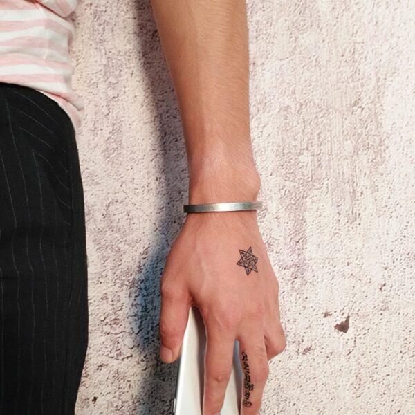 Bracelet acier type jonc