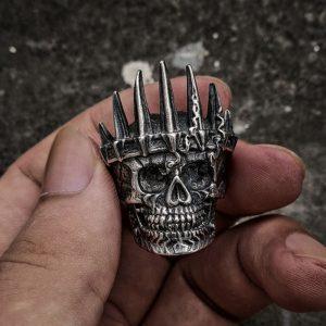 Bague skull pour homme