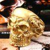Bague tête de mort or