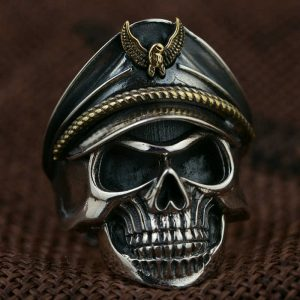 Bague tete de mort solda allemand