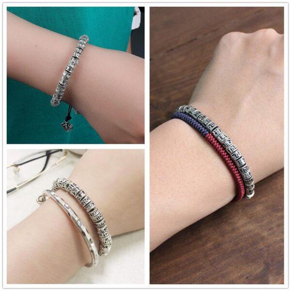 Bracelet avec le mantra om mani padme hum