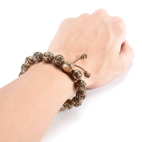 Bracelet bouddhiste avec mantra