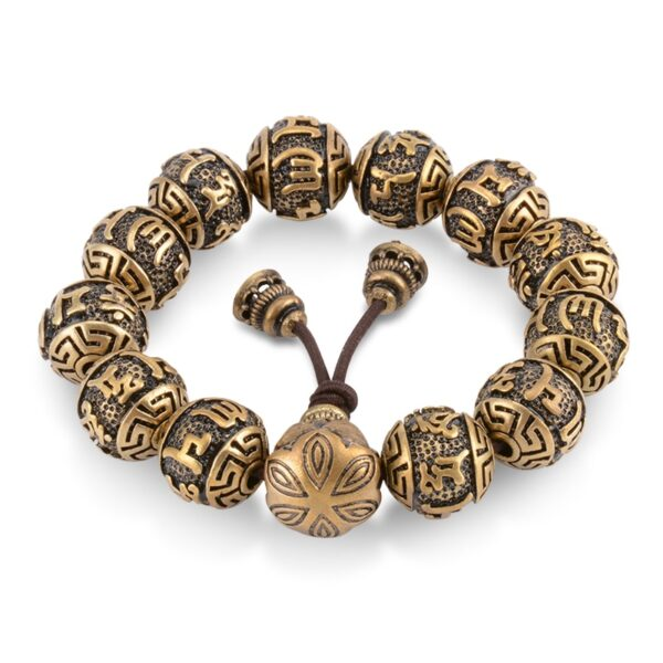 Bracelet bouddhiste jaune orange