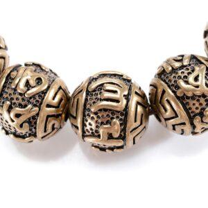 Bracelet bouddhiste perle cuivre