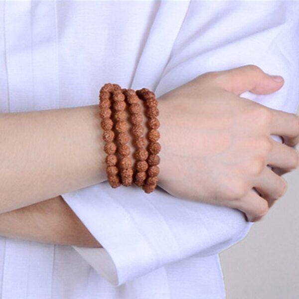 Bracelet graine de rudraksha