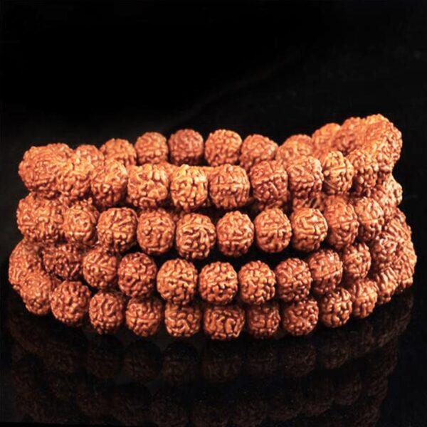 Bracelet graines de rudraksha