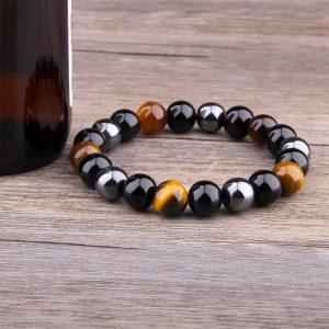 Bracelet homme avec pierre de protection